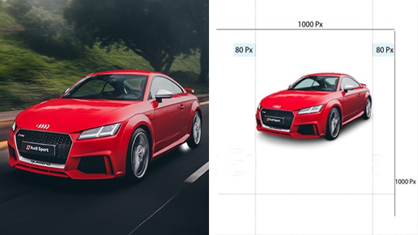 Automotive Photo Re-Sizing Cropping