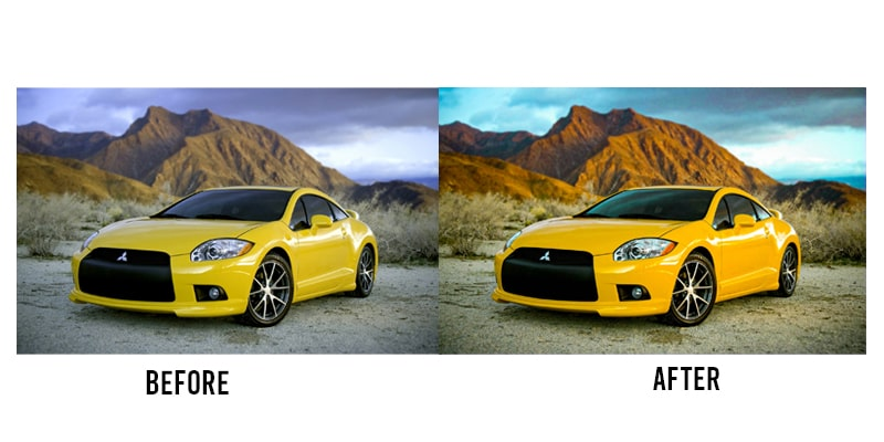 Car image editing comparison