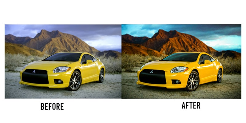 automobile photo editing in lightroom