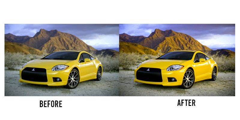 car photo edit in Lightroom