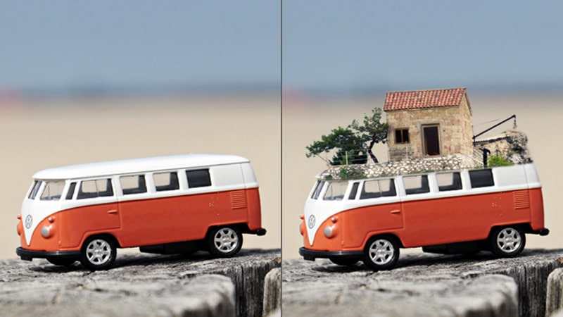 Car Photo Manipulation Example