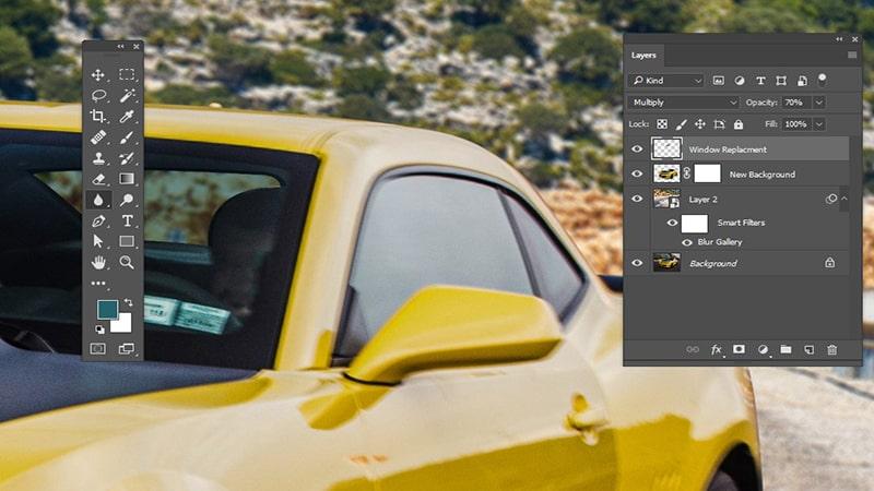 Fix Hard Edges Using Blur Tool