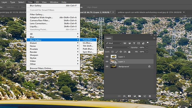 Select Filter-Blur Gallery - Field Blur