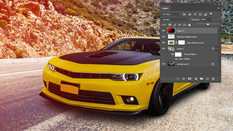 car image color grading and lighting