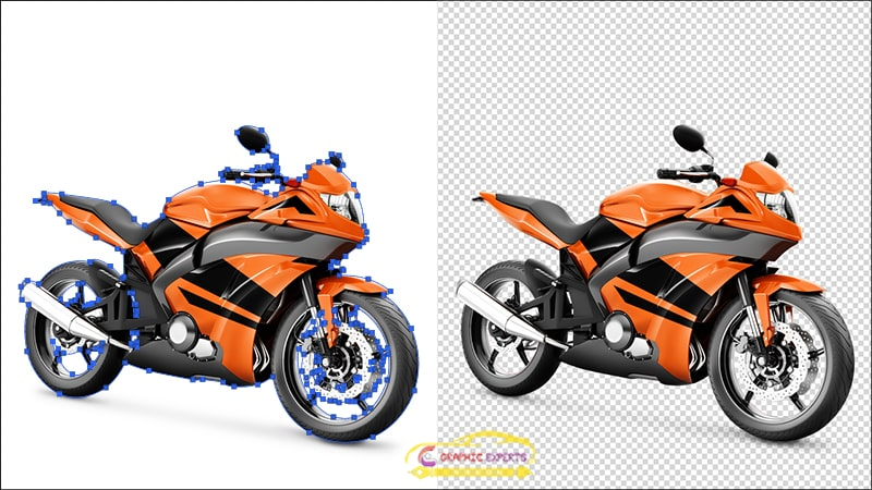 Bike Clipping Path Example