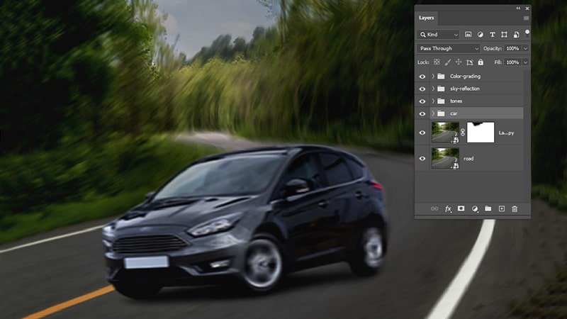 Motion blur effects in Photoshop CC 2021